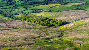 Scenic view from Pendle Hill Royalty Free Stock Photos