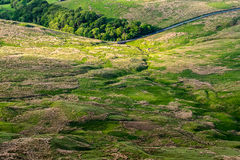 Scenic view from Pendle Hill Stock Image