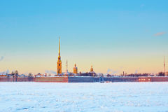 Scenic view of Peter and Paul Fortress in St. Petersburg, Russia Stock Photos
