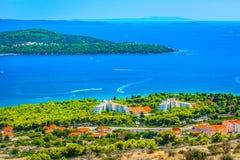 Adriatic Coast in Croatia, Trogir Riviera. royalty free stock image