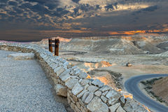 Scenic view point on desert of the Negev, Israel Stock Images
