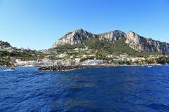 Scenic view of popular resort, Capri island (Italy Stock Photography