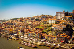 Scenic view of Porto old town and Douro river Stock Images