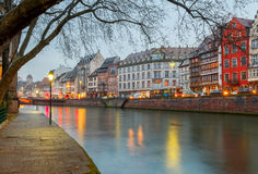 Strasbourg. Quay St. Nicholas. Royalty Free Stock Photography