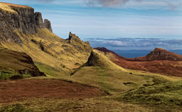 Scenic view of Quiraing mountains Royalty Free Stock Photo