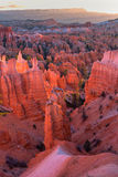Scenic view of red sandstone hoodoos in Bryce Canyon National Pa Stock Photo