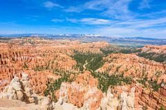 Scenic view of red sandstone hoodoos in Bryce Canyon National Park in Utah, USA - View of Inspiration Point royalty free stock photography