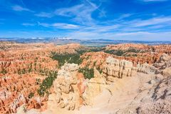 Scenic view of red sandstone hoodoos in Bryce Canyon National Park in Utah, USA - View of Inspiration Point stock photos