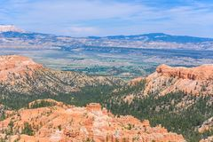Scenic view of red sandstone hoodoos in Bryce Canyon National Park in Utah, USA - View of Inspiration Point royalty free stock photos
