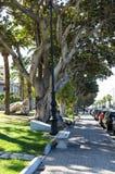 Scenic view of the Reggio di Calabria promenade Lungomare Falcomata royalty free stock photography