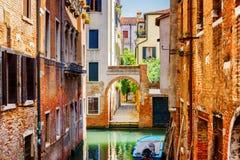 Scenic view of the Rio Terra Secondo Canal in Venice, Italy Stock Image