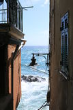 Scenic view in Riomaggiore, Italy Royalty Free Stock Image
