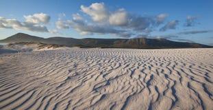 Rippled sand dunes Stock Photo