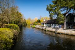 Scenic view of River Avon stock photography