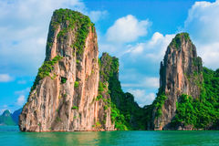 Scenic view of rock islands in Halong Bay, Vietnam Stock Photography