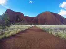 Uluru, Northern Territory, Australia 02/22/18. Scenic view of the rock from the Uluru base walk trail. A scenic view of the rock, shot taken from the Uluru base royalty free stock photo