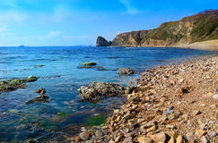 Scenic view of the rocky coastline Royalty Free Stock Image