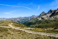 Scenic View Of Rocky Mountains stock images