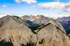 Scenic view of Rocky mountains range in Alberta, Canada Stock Photo