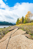 Scenic view in Rocky Point Campground when autumn season Royalty Free Stock Photo