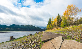 Scenic view in Rocky Point Campground when autumn season Stock Image