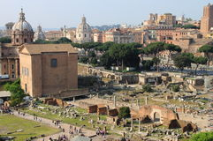Scenic view of the Roman Forum Stock Photos
