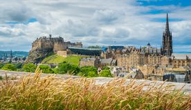 Scenic view from the rooftop of the National Museum of Scotland in Edinburgh. stock images