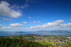 Scenic View of Rotorua City Stock Image