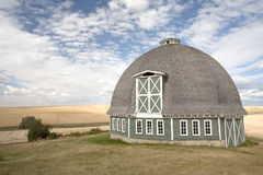 Scenic view of a round barn. Stock Photo