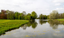 Scenic view of rural countryside lake Royalty Free Stock Photo