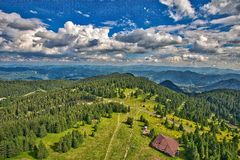 Scenic View of Rural Landscape Royalty Free Stock Photos