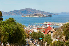 Scenic view from Russian hill in San Francisco, USA Royalty Free Stock Image