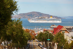 Scenic view from Russian hill in San Francisco, USA Royalty Free Stock Photography