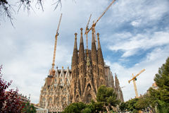 Scenic view of the Sagrada Familia, Barcelona Royalty Free Stock Photo