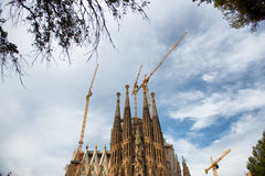 Scenic view of the Sagrada Familia, Barcelona Royalty Free Stock Images
