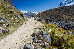 Scenic view during the Salkantay trek. In Peru Royalty Free Stock Images