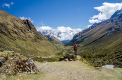 Scenic view on the Salkantay trek. In Peru Stock Images