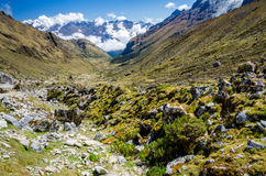 Scenic view on the Salkantay trek. In Peru Stock Photography