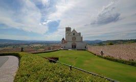 scenic view of San Francesco Basilica stock photo