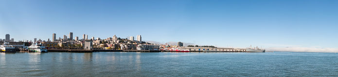 Scenic view of San Francisco skyline Stock Images
