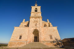 Scenic view of San Pedro church at sunset, Lerma, Burgos, Spain. Scenic view of San Pedro church at sunset, Lerma, Burgos, Spain Stock Photo