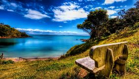 Scenic View of Sea Against Blue Sky Royalty Free Stock Photo