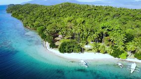 Scenic view of sea bay and mountain islands, Philippines. Scenic view of sea bay and mountain islands in Philippines stock image