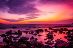 Scenic View of Sea during Sunset Stock Image