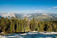 Scenic view from sentinel dome Stock Photo