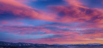 Scenic View of Sky During Dawn Royalty Free Stock Image