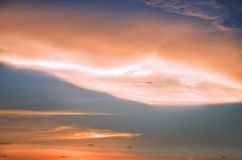 Scenic View of Sky During Dawn Stock Image