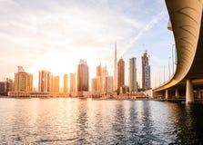 Dubai downtown skyline Stock Image