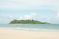 Scenic view on small tropical island Stock Image