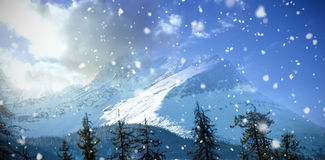 Scenic view of snow covered mountains Stock Photos